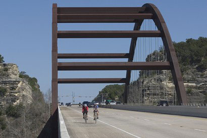 Pennybacker Bridge.  Image from www.texasescapes.com.